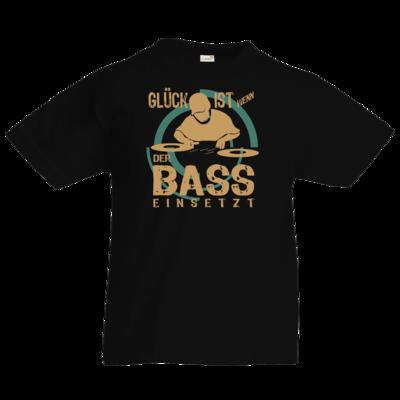 Motiv: Kids T-Shirt Premium FAIR WEAR - Musik Glück ist wenn der Bass einsetzt
