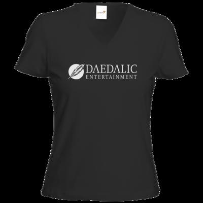 Motiv: T-Shirt Damen V-Neck Classic - Daedalic Logo
