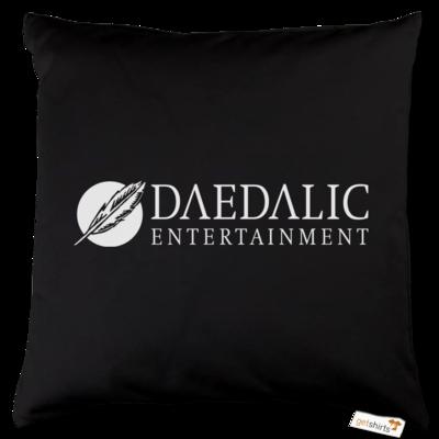 Motiv: Kissen Baumwolle - Daedalic Logo