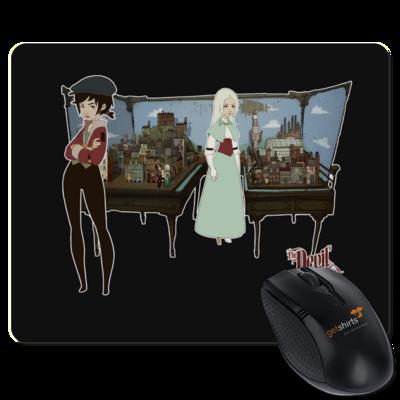 Motiv: Mousepad Textil - The Devils Men - Spieltisch