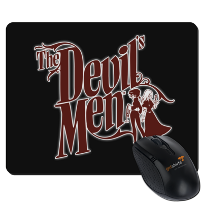 Motiv: Mousepad Textil - The Devils Men - red