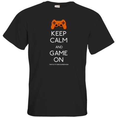 Motiv: T-Shirt Premium FAIR WEAR - Keep Calm Game On