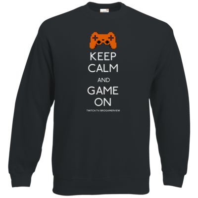 Motiv: Sweatshirt Classic - Keep Calm Game On