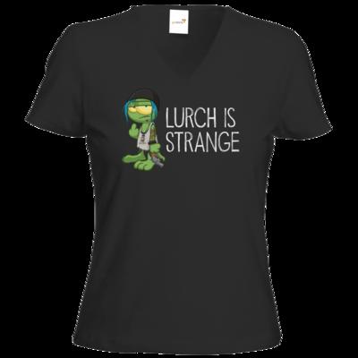 Motiv: T-Shirt Damen V-Neck Classic - Lurch is Strange Chloe