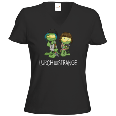 Motiv: T-Shirt Damen V-Neck Classic - Lurch is Strange Max & Chloe