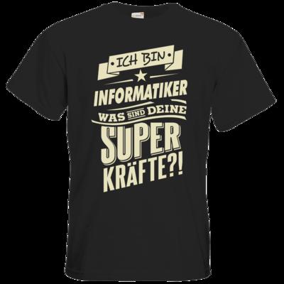 Motiv: T-Shirt Premium FAIR WEAR - Superkraefte Informatiker