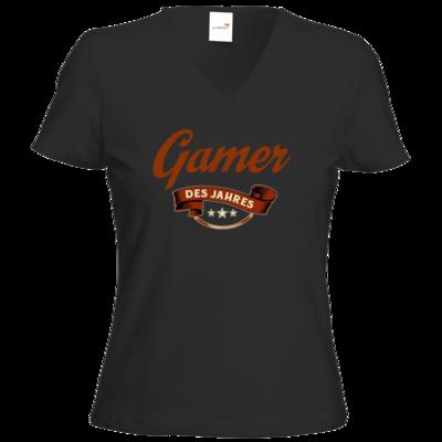 Motiv: T-Shirt Damen V-Neck Classic - Gamer des Jahres