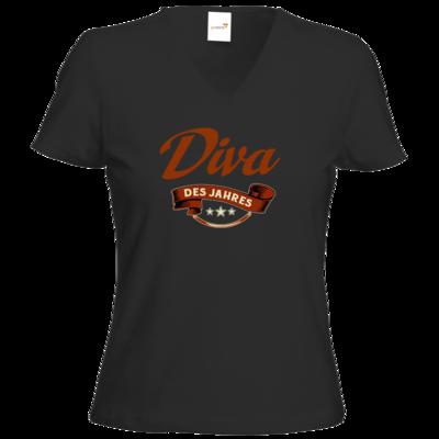 Motiv: T-Shirt Damen V-Neck Classic - Diva des Jahres