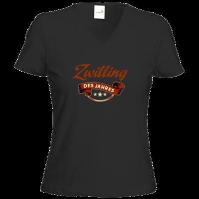 Motiv: T-Shirt Damen V-Neck Classic - Zwilling des Jahres