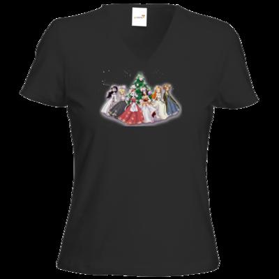 Motiv: T-Shirt Damen V-Neck Classic - Hommage - Daedalic Princess