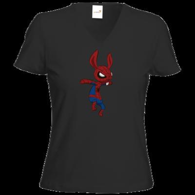 Motiv: T-Shirt Damen V-Neck Classic - Edna bricht aus - SpiderHarvey