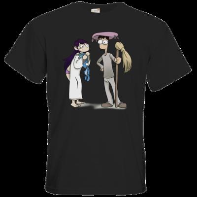 Motiv: T-Shirt Premium FAIR WEAR - Edna bricht aus - Edna und Droggelbecher