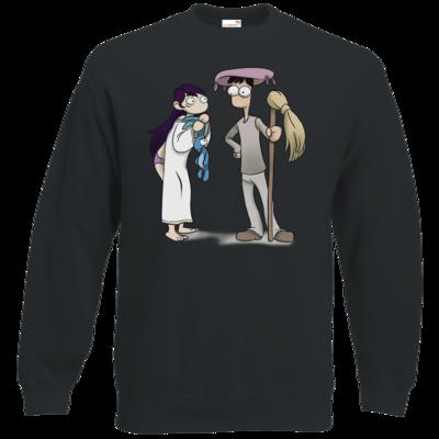 Motiv: Sweatshirt Classic - Edna bricht aus - Edna und Droggelbecher