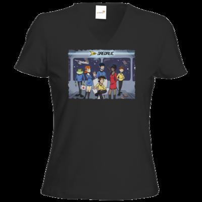 Motiv: T-Shirt Damen V-Neck Classic - Hommage - StarDalic