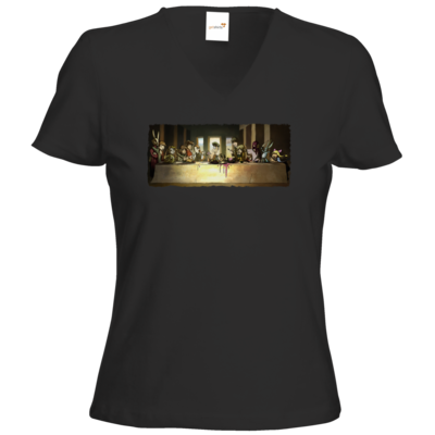 Motiv: T-Shirt Damen V-Neck Classic - Hommage - Abendmahl