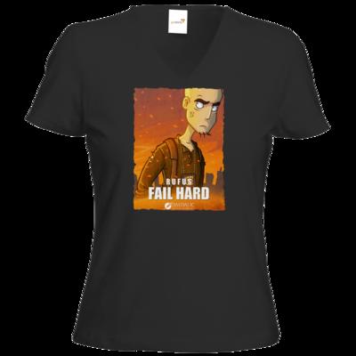 Motiv: T-Shirt Damen V-Neck Classic - Hommage - Fail Hard