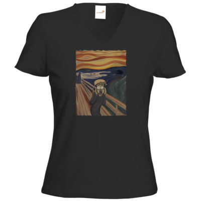 Motiv: T-Shirt Damen V-Neck Classic - Hommage - Der Schrei