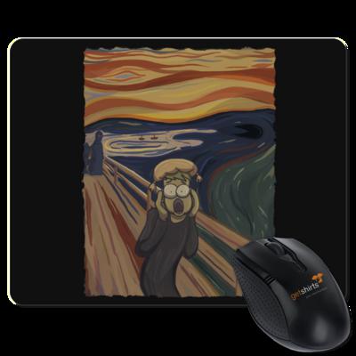 Motiv: Mousepad Textil - Hommage - Der Schrei