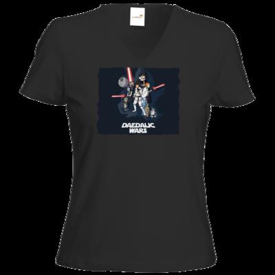 Motiv: T-Shirt Damen V-Neck Classic - Hommage - Daedalic Wars