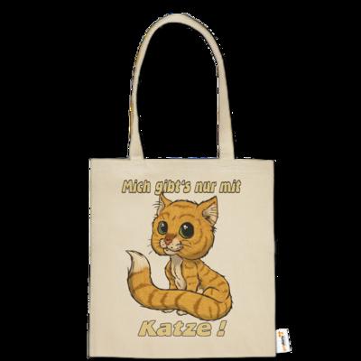 Motiv: Baumwolltasche - Fun mich gibt es nur mit Katze