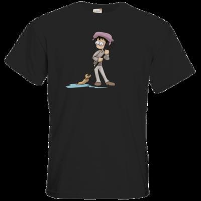 Motiv: T-Shirt Premium FAIR WEAR - Edna bricht aus - Droggelbecher