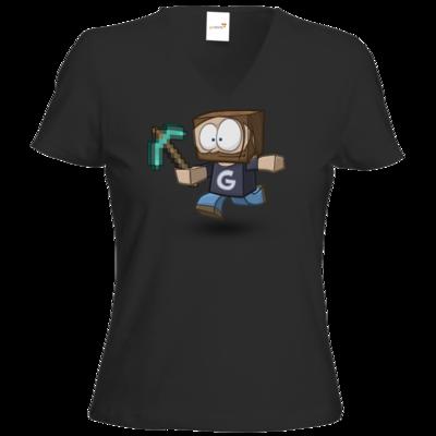 Motiv: T-Shirt Damen V-Neck Classic - Gronkhcraft
