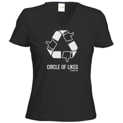 Motiv: T-Shirt Damen V-Neck Classic - Circle of Likes