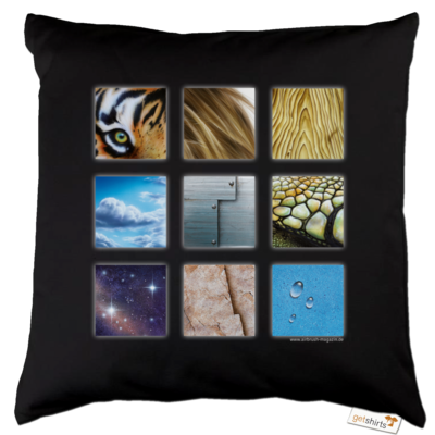 Motiv: Kissen Baumwolle - Texturen Quadrate