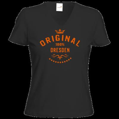 Motiv: T-Shirt Damen V-Neck Classic - Staedte Dresden