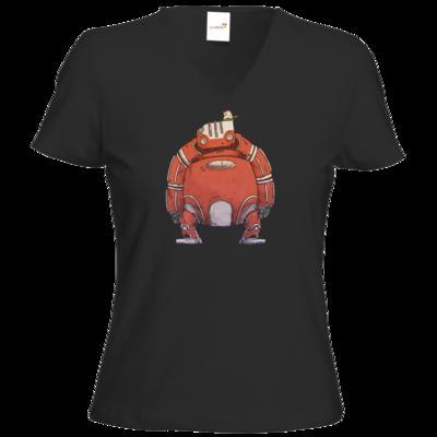 Motiv: T-Shirt Damen V-Neck Classic - Leschek Standing