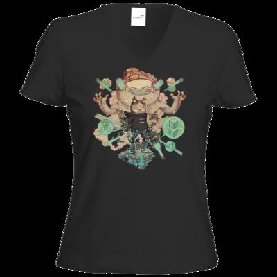 Motiv: T-Shirt Damen V-Neck Classic - T&B Cover Painted