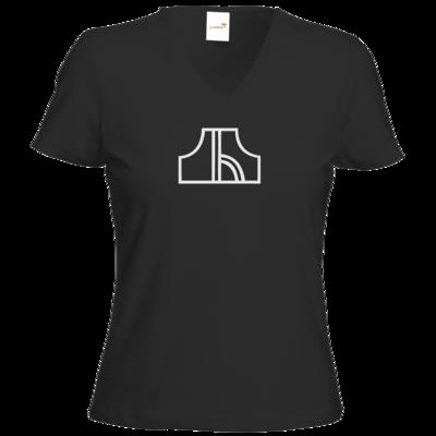 Motiv: T-Shirt Damen V-Neck Classic - Black Pants