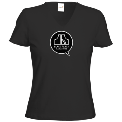 Motiv: T-Shirt Damen V-Neck Classic - Black Pants Logo