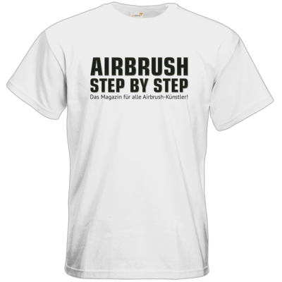 Motiv: T-Shirt Premium FAIR WEAR - Airbrush Step BY Step Slogan