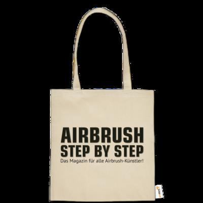 Motiv: Baumwolltasche - Airbrush Step BY Step Slogan