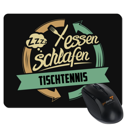 Motiv: Mousepad Textil - Sport Tischtennis