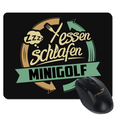 Motiv: Mousepad Textil - Sport Minigolf