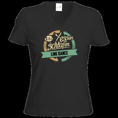 Motiv: T-Shirt Damen V-Neck Classic - Sport Line Dance
