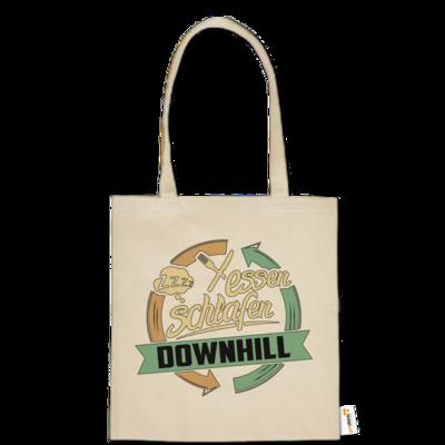 Motiv: Baumwolltasche - Sport Downhill