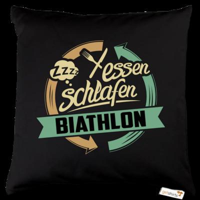 Motiv: Kissen Baumwolle - Sport Biathlon