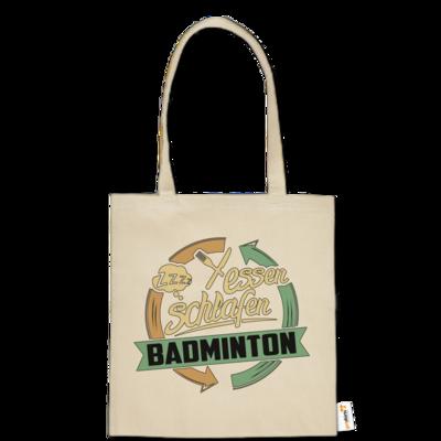 Motiv: Baumwolltasche - Sport Badminton
