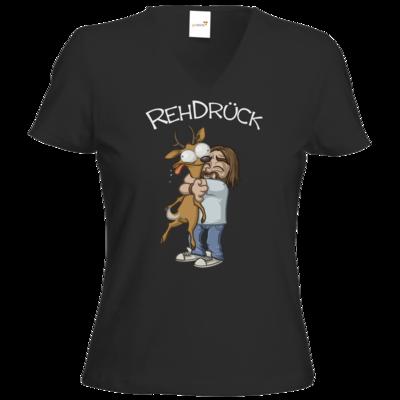 Motiv: T-Shirt Damen V-Neck Classic - RehDrueck