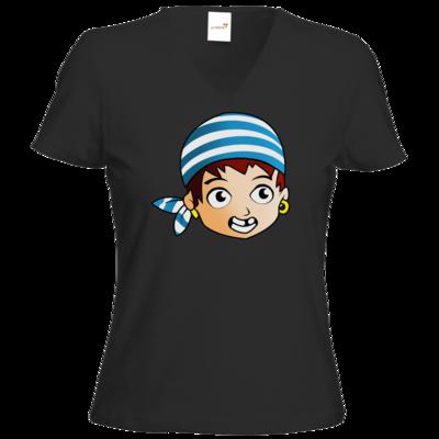 Motiv: T-Shirt Damen V-Neck Classic - Matrose