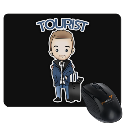 Motiv: Mousepad Textil - Tourist