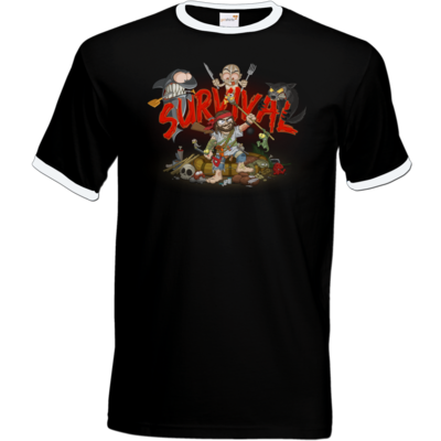 Motiv: T-Shirt Ringer - Survival