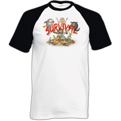 Motiv: TShirt Baseball - Survival