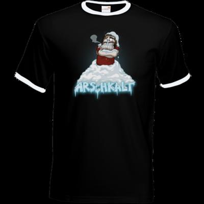 Motiv: T-Shirt Ringer - Arschkalt