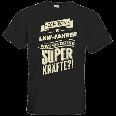 Motiv: T-Shirt Premium FAIR WEAR - Superkraefte LKW-Fahrer