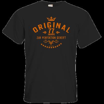 Motiv: T-Shirt Premium FAIR WEAR - Original 77 Jahre zur Perfektion gereift - Geburtstag