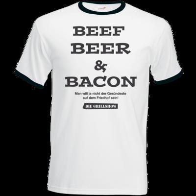 Motiv: T-Shirt Ringer - Grillshow nicht der Gesuendeste